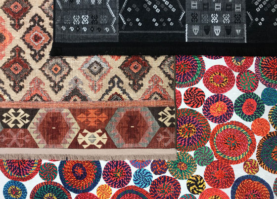 Luna: Traditional designed rugs and kilims produced through print technique on 100% polyester fabric