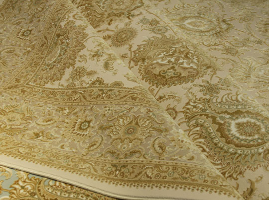 Orient: Bamboo and acrylic classical patterned machine made rugs