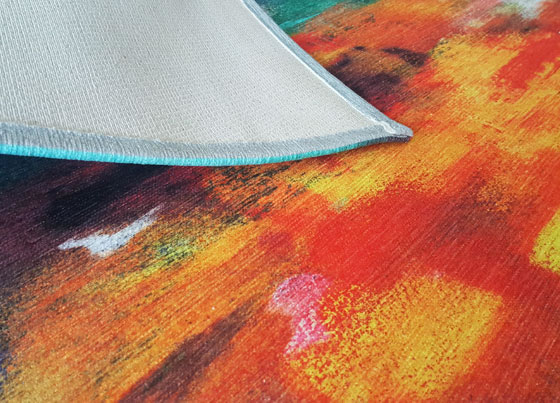Craft: Polyester and cotton modern print rugs