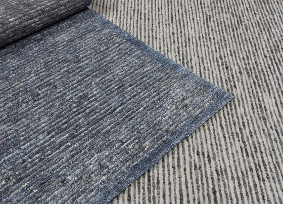 Cotele: Natural viscose and wool handloom rug