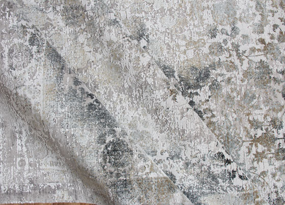 Fresco: Viscose and acrylic modern machine made rug