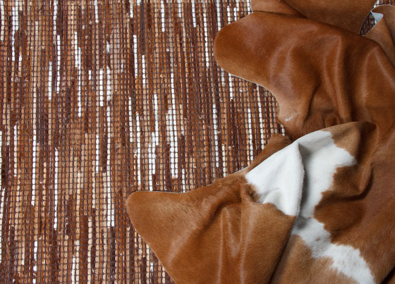 Oxford: Natural leather rug