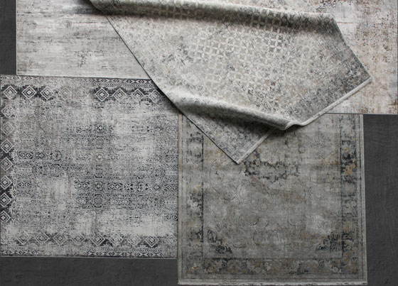 Verona: Viscose machine made rugs