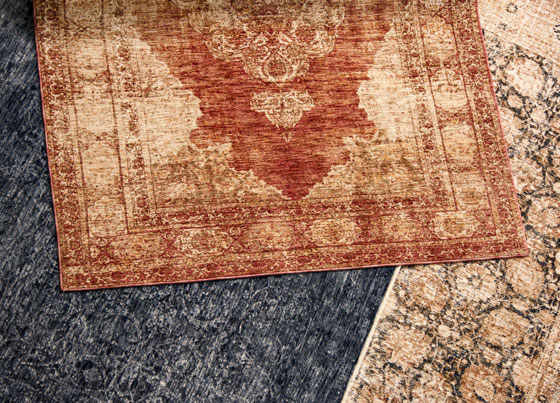 Altay: Modern machine made rug with micro-polyester