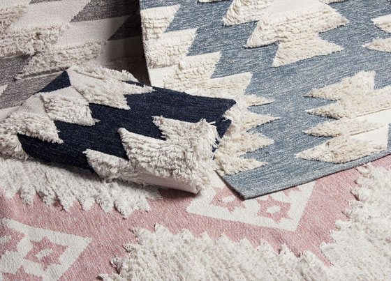 Afro Kilim: Washable hand-woven cotton kilims