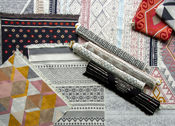 Arya: Modern kilims with recycled cotton