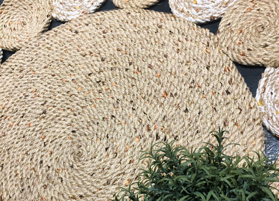 Patna: Washable jute styled kilims